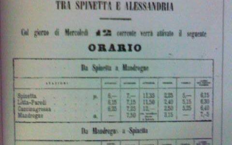 Tramvia a cavalli tra Spinetta e Mandrogne