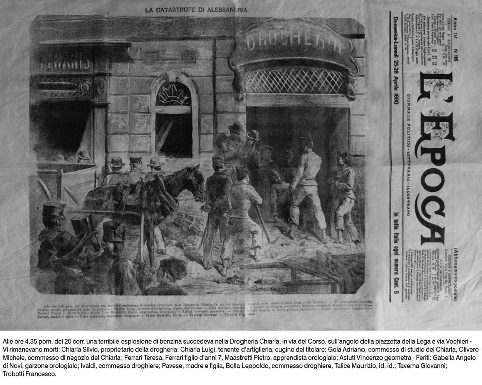 Un fatto gravissimo successo nel 1880 e riportato da moltissimi giornali d'epoca. Questo che si chiama appunto L'Epoca è una testata rarissima.