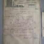 Una vecchia ricevuta del 1890 di un vetraio di Alessandria – Via della Vittoria