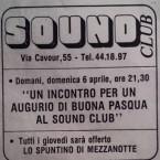 SOUND CLUB (locale storico della città)