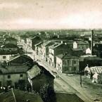 Quartiere Cristo – Una simil Piazza, credo non ancora Ceriana, ma già con i baracconi per la Festa del Cristo negli anni '20