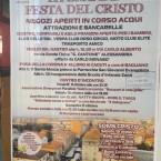 LA GRANDE FESTA DEL CRISTO – 11 OTTOBRE 2015