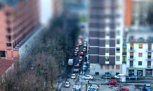 """Corso Felice Cavallotti e parcheggio dello """"Scientifico"""""""
