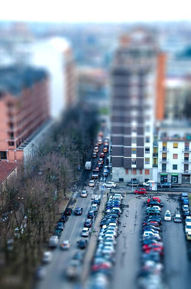 """Corso Felice Cavallotti e parcheggio dello """"Scientifico"""". (foto Sergio Di - 2015)"""