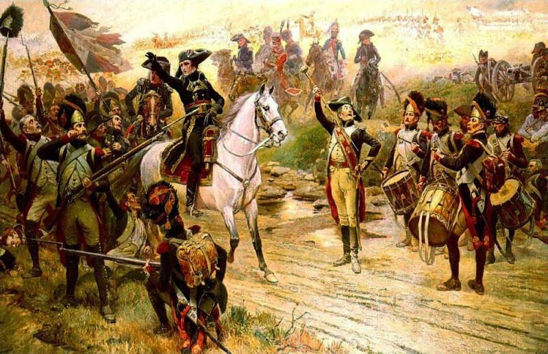Bonaparte annuncia l'arrivo dei rinforzi durante la battaglia di Marengo