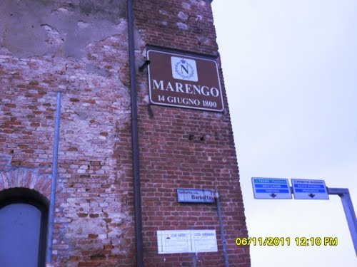 Insegna Museo di Marengo, Via Barbotta Spinetta Marengo