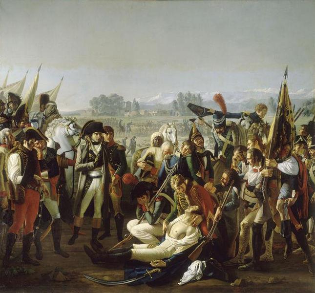 Morte del generale Desaix, dipinto ad olio del 1806,autore Jean Broc 1771-1850.