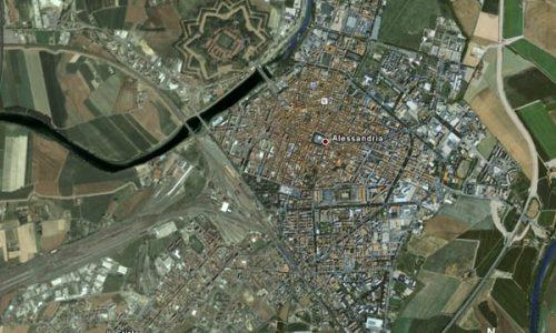 Veduta satellitare della città di Alessandria – anno 2007