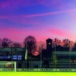 7/11/2015 – Gli splendidi colori di una serata di novembre allo stadio Moccagatta di Alessandria.