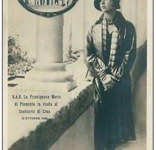 La Principessa Maria di Piemonte in visita al Santuario di Crea – 12 Ottobre 1930