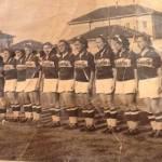 Vecchia foto della squadra femminile del Borsalino-