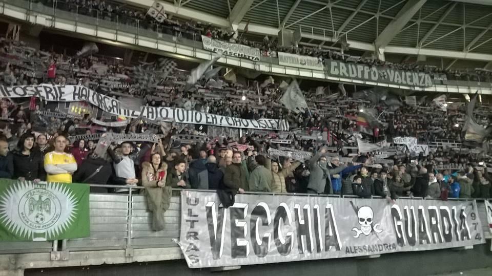 La Nord allo stadio Olimpico di Torino per la semifinale di Tim Cup contro il Milan (Gennaio 2016)