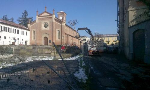 Lavori di restauro in Piazza S. Maria di Castello (2016)
