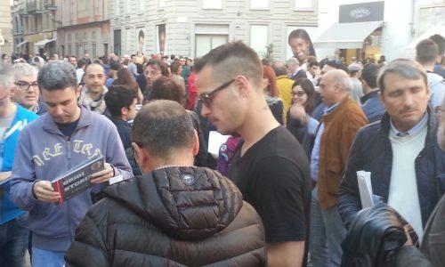"""14/04/2016 – Presentazione del libro """"I Grigi nella Storia"""" in Piazzetta della Lega"""