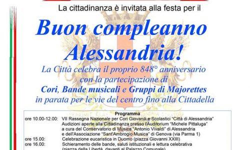8 maggio 2016 – 848° Anniversario di Fondazione della Città di Alessandria
