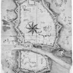 Alessandria fortificata, prima della costruzione della Cittadella.