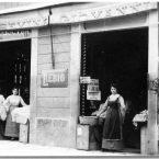 Negozio commestibili Possevin, primi '900, in via Felice Cavallotti poi S. Lorenzo