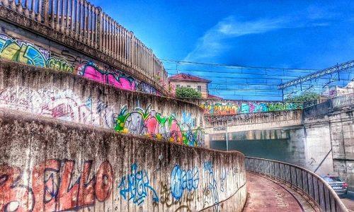 Sottopasso di via Maggioli – street art