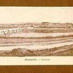 Raro panorama di Alessandria – Incisione del 1891