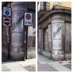 Giugno 2016 – Rimossi i cartelli che occultavano la vista del marchio Borsalino dello storico negozio di Corso Roma
