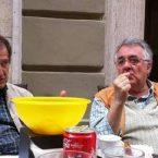 """DIALOGHI FRIZZANTI ALL'ALTZHEIMER TRA I """"MAESTRI"""" UGO BOCCASSI E FRANCO RANGONE."""