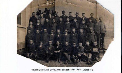 Scuola Elementare Bovio. Anno Scolastico 1914-15. Classe 5 B