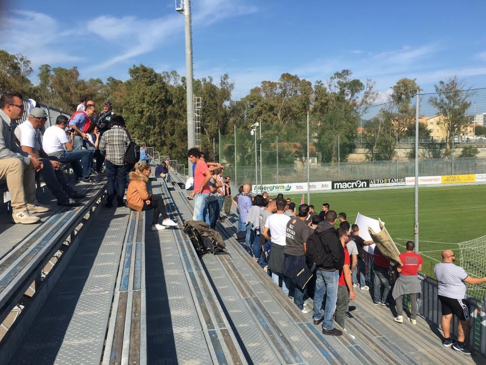 I tifosi alessandrini presenti ad Olbia