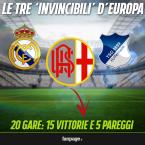 """Le tre """"invincibili"""" d'Europa: Real Madrid, Hoffenheim e… Alessandria."""