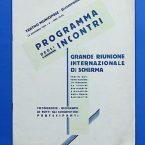Alessandria – Teatro Municipale – programma incontri riunione internazionale di scherma 1931