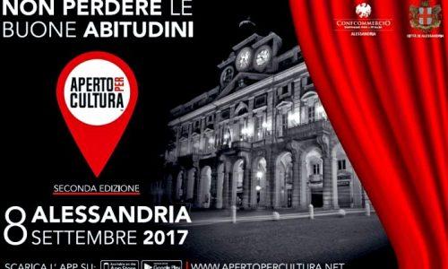 APERTO PER CULTURA – 8 SETTEMBRE 2017