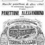 Manifesto promozionale della Pasticceria Zoccola di Alessandria. Anni '30-'40