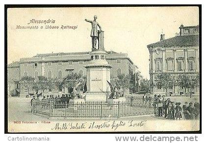 Il monumento a Urbano Rattazzi (Piazza della Libertà)