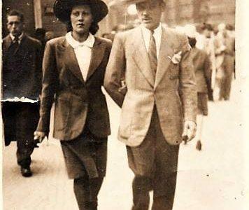 Mia madre e mio padre in Corso Roma,ai tempi in cui mamma lavorava in Borsalino (1943) Giuseppe Guazzotti