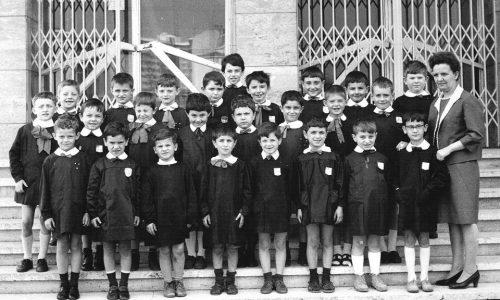 Scuola Morbelli anno 1966, prima elementare
