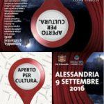 Aperto per Cultura 2016 – 9 settembre 2016