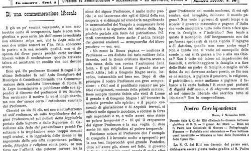 Quotidiano di Alessandria – 1888.