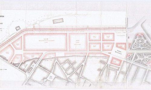 Progetto di ampliamento della strada della stazione e del nuovo corso dei Cento Cannoni. [1891]