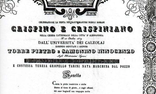 Sonetto, Alessandria 1849
