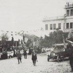 Loano, 1923. La Regina Elena inaugura la Colonia Borsalino, oggi una scuola elementare.