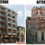 Palazzo di Piazza Marconi pubblicato su di una rivista di architettura straniera, Architectural Revival