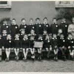 """1964 – Scuola Elementare G. Galilei. Classe 1^ maschile """"C"""" (maestra Cellerino)"""